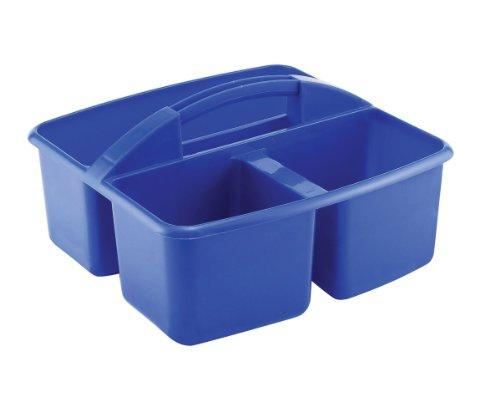 3 Compartment Small Art Caddy - Blue - Set of 12