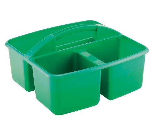 3 Compartment Small Art Caddy - Green - Set of 12