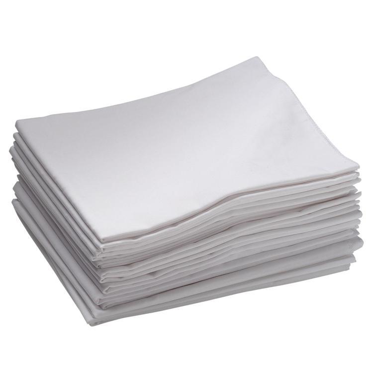 Toddler Cot Sheet - White - Set of 12