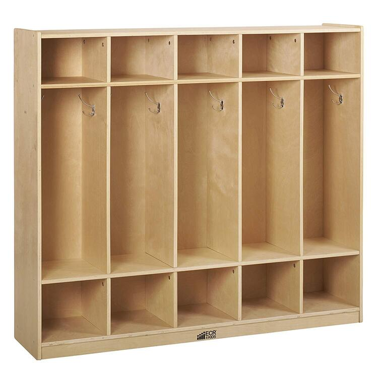 5-Section Birch Straight Coat Locker