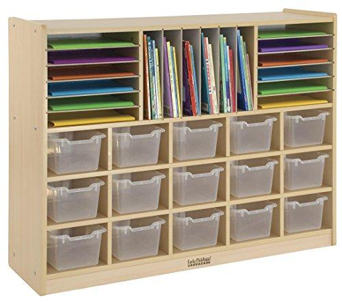 Multi-Section Birch Storage w/15 Bins