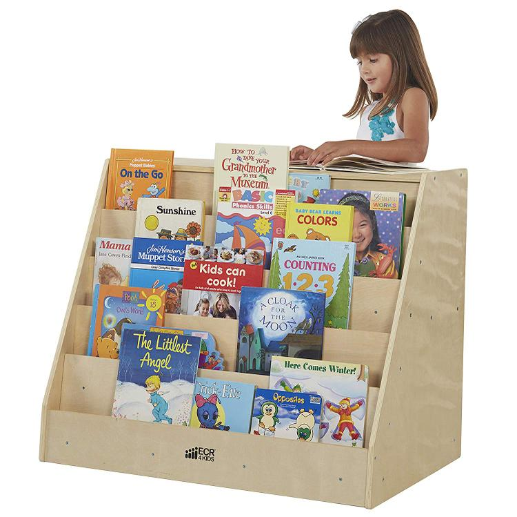 ECR4Kids Birch Book Display with Storage [Item # ELR-0429]
