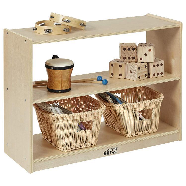 ECR4Kids 2 Shelf Birch Storage Cabinet