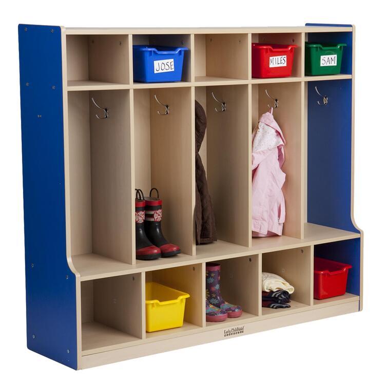 ECR4Kids Essentials 5-Section Coat Locker