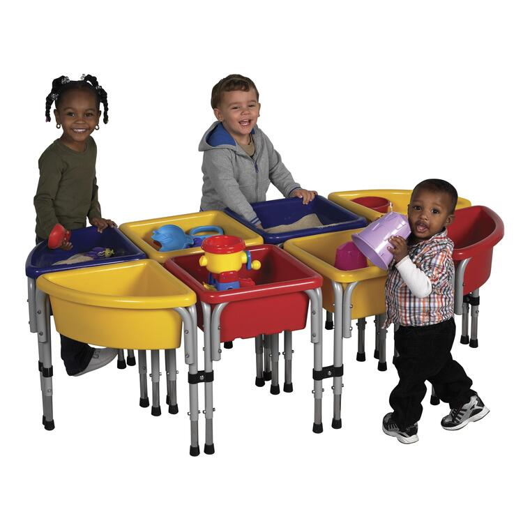 10 Station Sand & Water Play Table with Lids