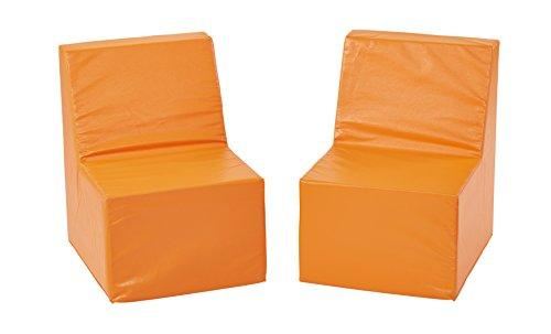 SoftZone® 2-Pack Toddler Chair - Orange