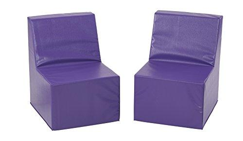 SoftZone® 2-Pack Toddler Chair - Purple