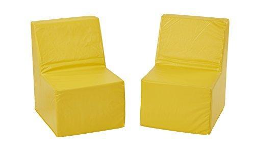 SoftZone® 2-Pack Toddler Chair - Yellow