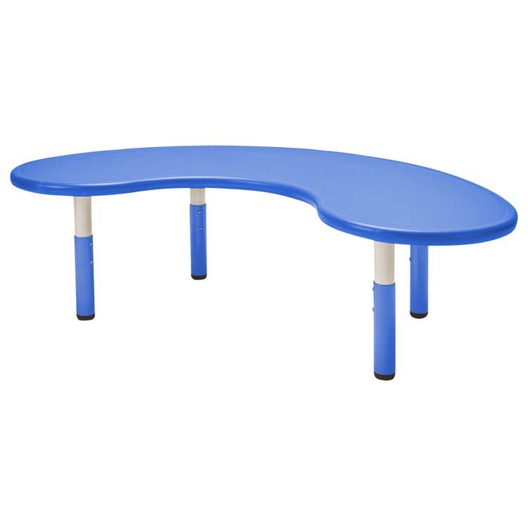ECR4Kids 65in Kidney Resin Table - Blue