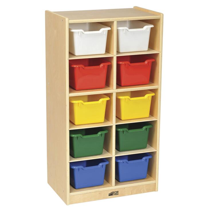 10 Tray Cabinet with Bins