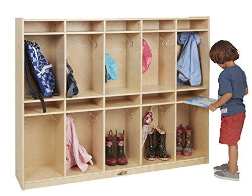 ECR4Kids Birch 10-Section Storage Locker