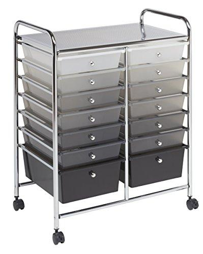 14 Drawer Mobile Organizer - Grayscale