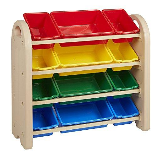 4-Tier Storage Organizer, Sand, Assorted Bins