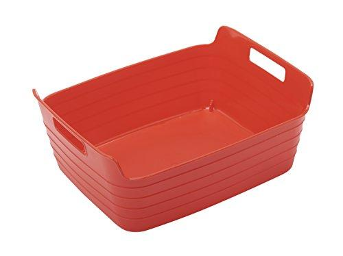 Medium Bendi-Bin with Handles - Red - Set of 12