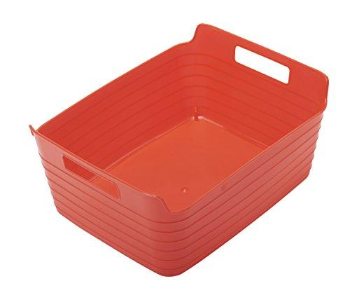 Large Bendi-Bin with Handles - Red - Set of 12