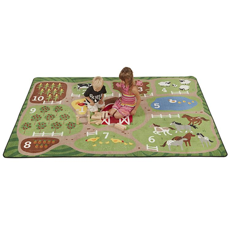 Count the Farm Activity Rug, 9'x12' Rect