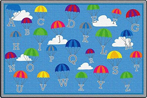 P is for Parachute Activity Rug, 9'x12' Rect
