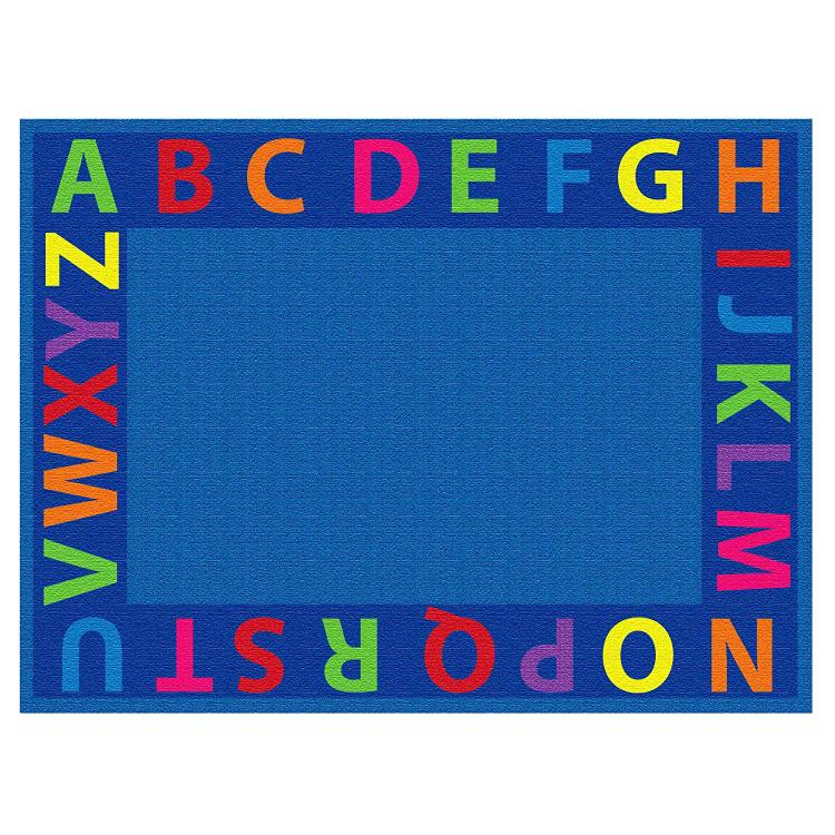 A-Z Circle Time Seating Rug, 6'x9' Rect