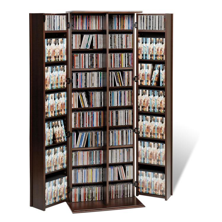 Prepac Grande Locking Media Storage Cabinet With Shaker Doors