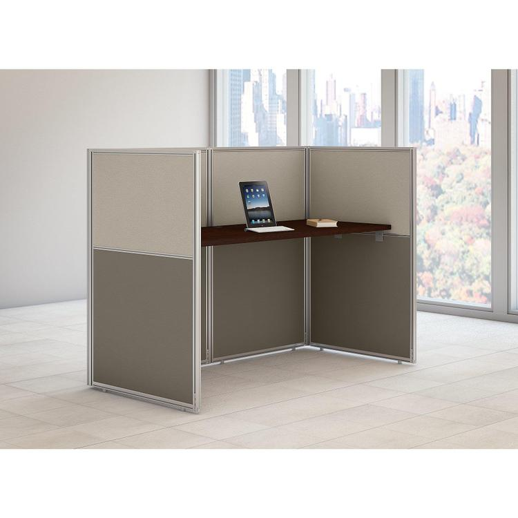 Bush  Furniture Easy Office 60W Straight Desk Closed Office in Mocha Cherry