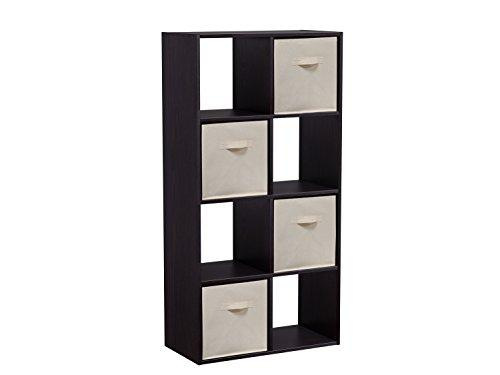 Homestar 8-Cube with Fabric Bins - Black Brown
