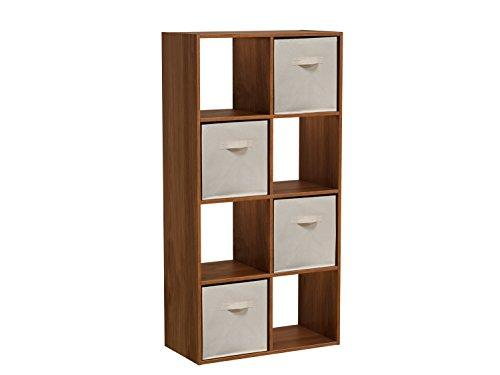Homestar 8-Cube with Fabric Bins - Wheat Alder