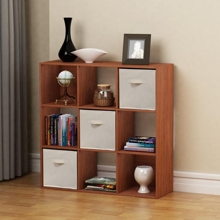 Homestar 9-Cube with Fabric Bins - Cherry Spice