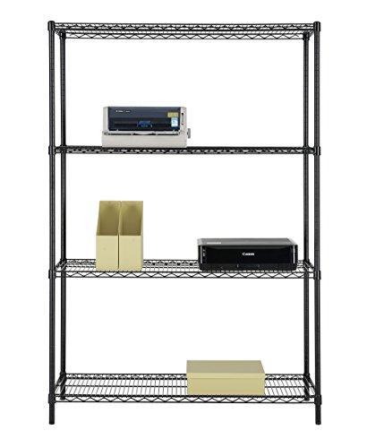 Excel NSF Multi-Purpose 4-Tier Shelving, 48 x 72 x 18-Inch, Black