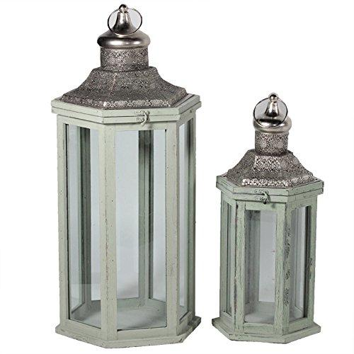Authentic And Decorative 2Pc Metal Lantern