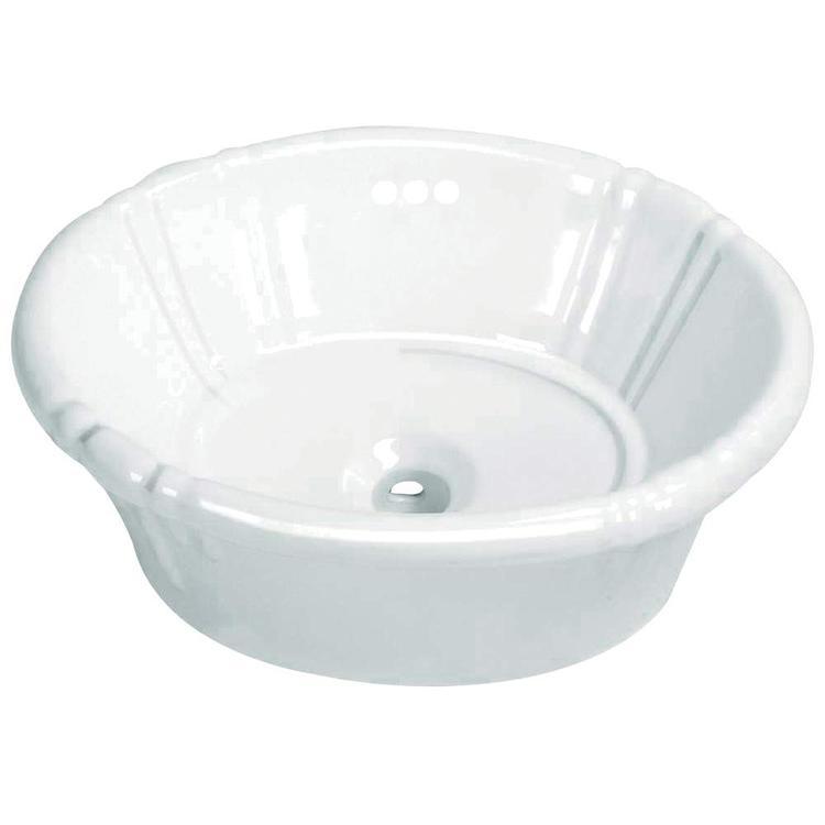 Fauceture Vintage EV18157 Vitreous China Single Bowl Lavatory Sink, White
