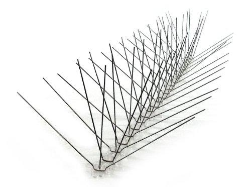 Extra Wide Stainless Steel Bird Spikes, 10 ft