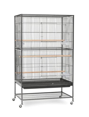 Prevue Pet Products Wrought Iron Flight Cage With Stand Hammertone