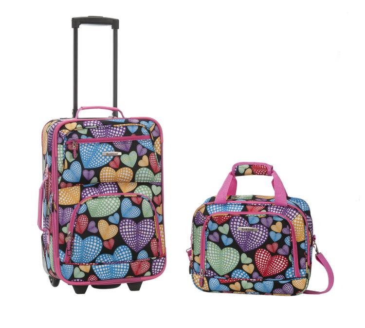 Rockland Rio Expandable 2-Pc Carry On Luggage Set