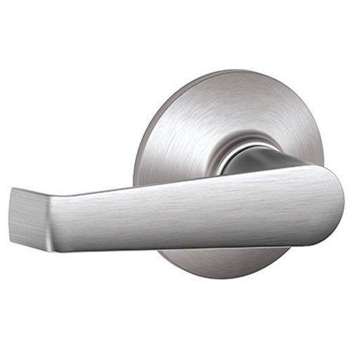 Schlage F10 Elan Passage Lock with 16080 Latch 10027 Strike Satin Chrome Finish