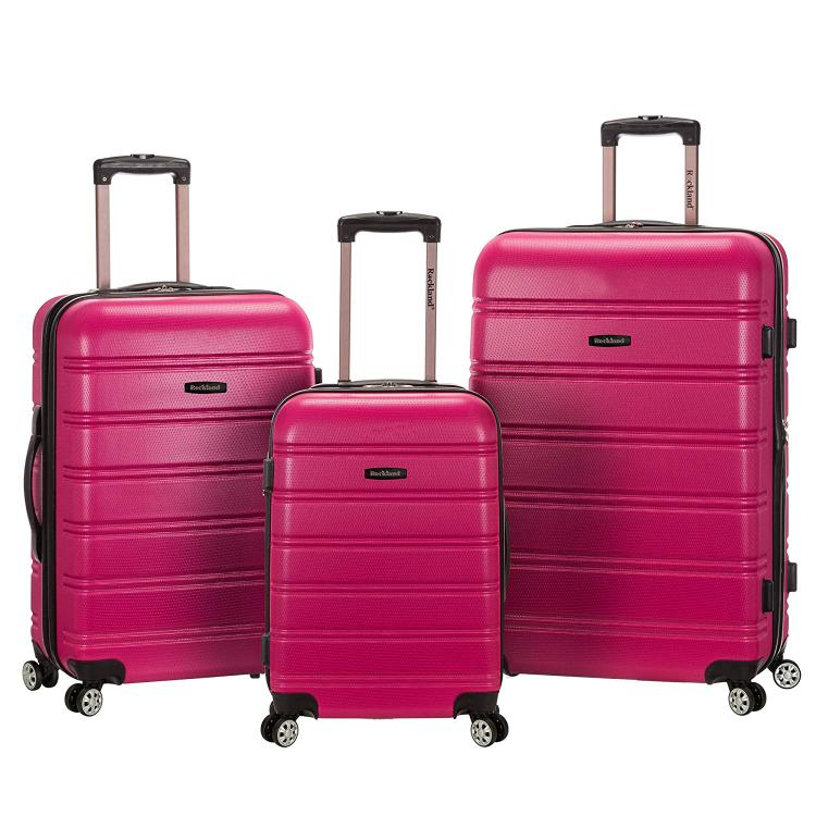 Rockland Melbourne Abs Luggage Set [Item # F160-MAGENTA]