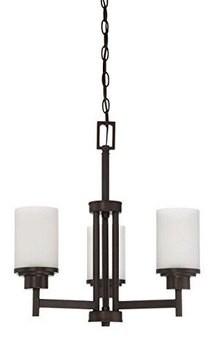 3-Light Somes Chandelier with Linen Glass