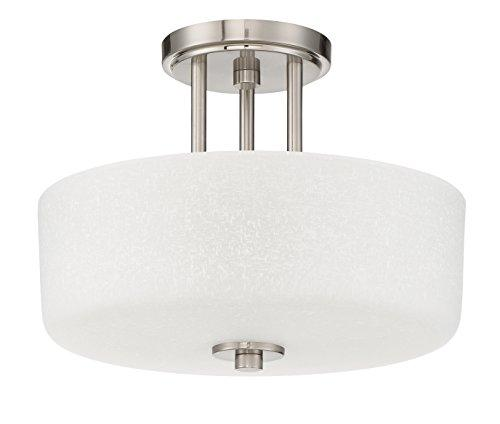 3-Light Somes Semi Flush with Linen Glass