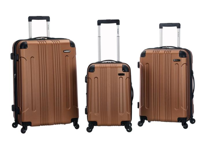 Rockland Luggage 3 Piece Abs Upright Luggage Set