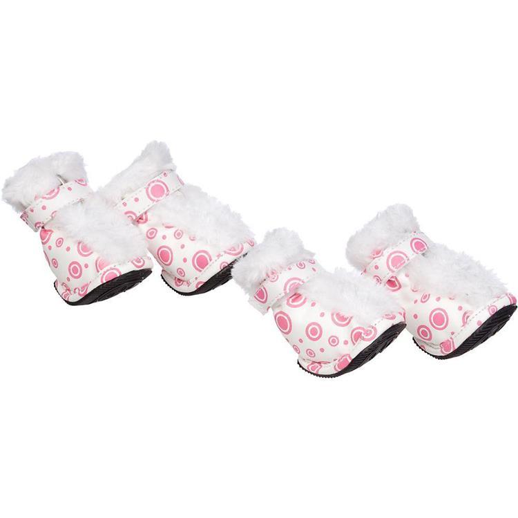 Fashion Plush Premium Fur-Comfort Pvc Waterproof Supportive Pet Shoes