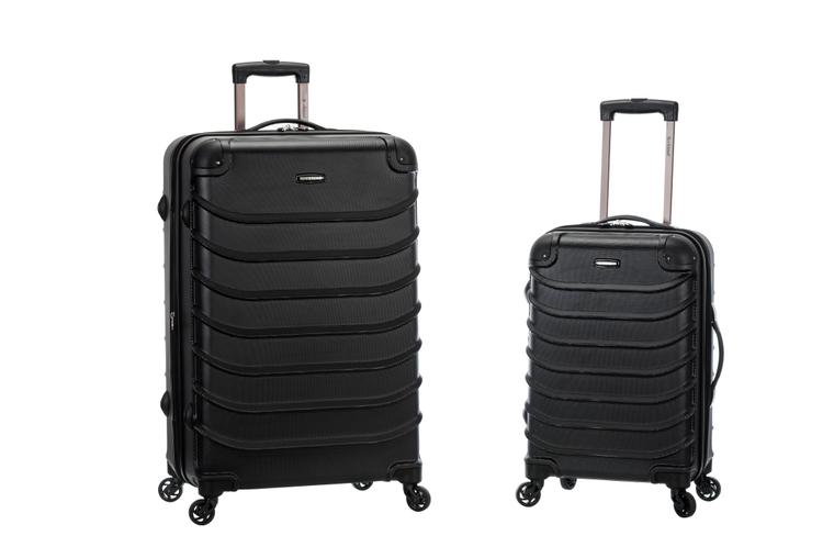 Rockland Speciale 2-Pc Expandable ABS Spinner Set [Item # F230-BLACK]
