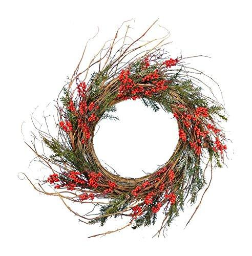 Snow Pine Ilex Berry Wreath