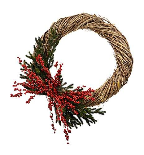 Pine Wreath W/ Red Berry