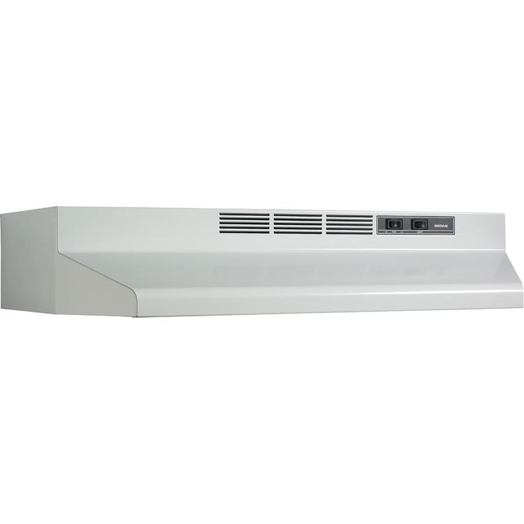 Broan 30 In. Two-Speed 4-Way Convertible Under Cabinet Range Hood - White