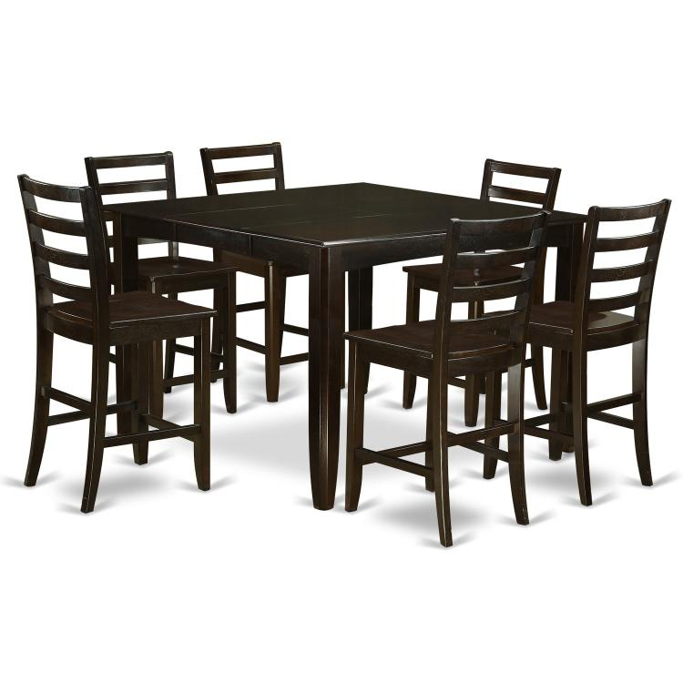 Counter Height Dining Set- Square Counter Height Table And Dining Chairs [Item # ]