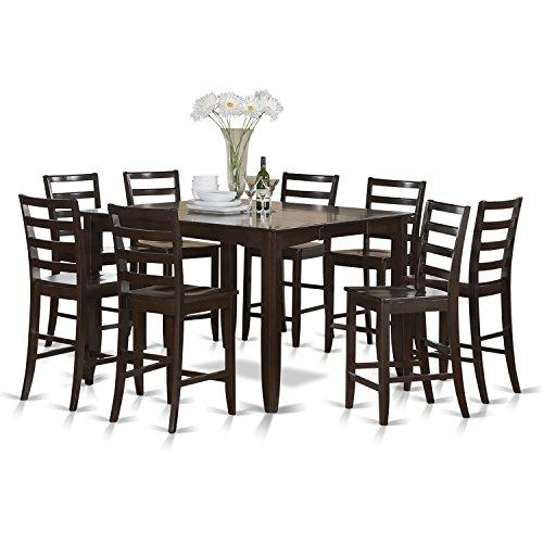 Counter Height Dining Set- Square Counter Height Table And Dining Chairs