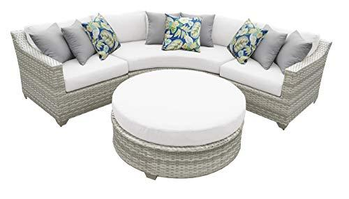 Fairmont 4 Piece Outdoor Wicker Patio Furniture Set 04a