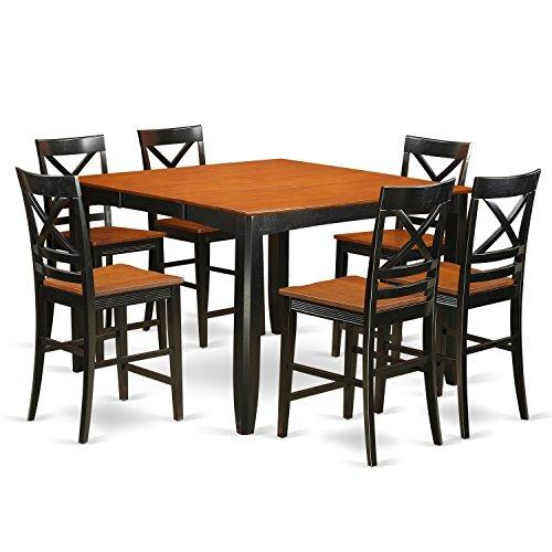 Counter Height Table And Chair Set - Table And Bar Stools