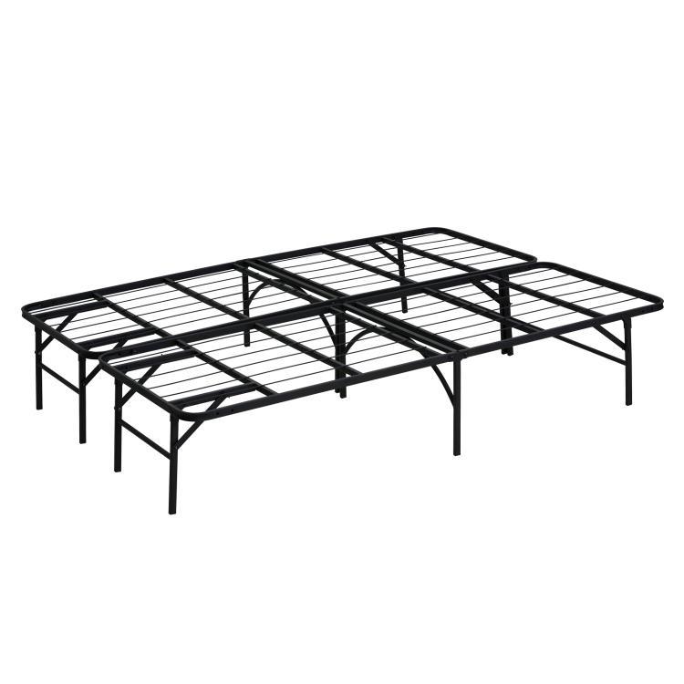 Furinno Angeland Mattress Foundation Platform Metal Bed Frame, Full, FB002F