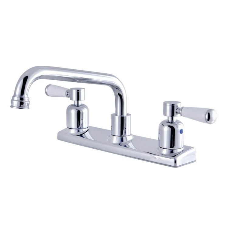 Kingston Brass Fb2131dpl 8 Inch Centerset Kitchen Faucet Polished Chrome 81 1500 Ojcommerce