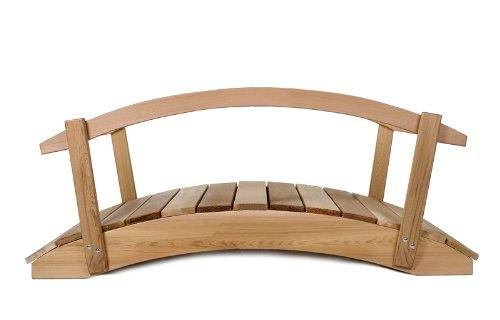 3 Ft. Cedar Garden Foot Bridge With Hand Rails